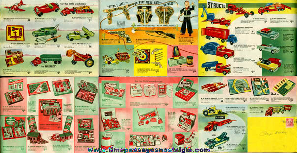 Colorful 1950's (24) Page Toy Catalog