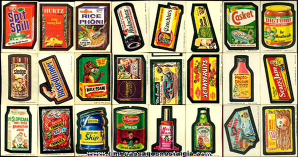 (48) Old Unused Topps Wacky Packages Stickers / Trading Cards