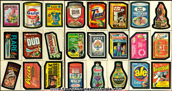 (61) Old Unused Topps Wacky Packages Stickers / Trading Cards