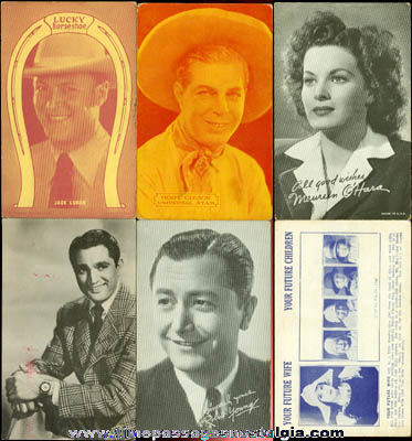 (6) Old Cowboy / Movie Star Arcade / Exhibit Cards