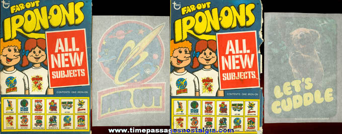 (2) Different Unused ©1975 Topps Chewing Gum Iron On Transfers With Envelopes