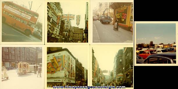 (14) 1968 London, England Color Photographs