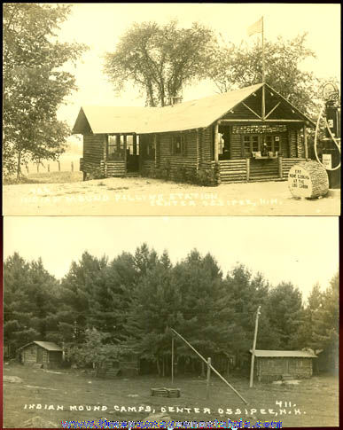 (2) Old Unused Center Ossipee, New Hampshire Real Photo Post Cards