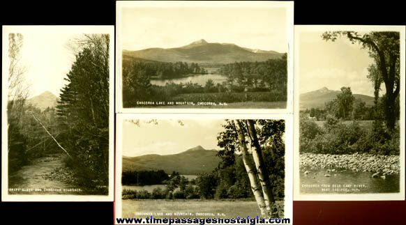 (4) Different Old Unused Mount Chocorua, New Hampshire Real Photo Post Cards