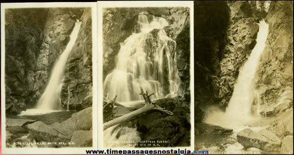 (3) Different Old Unused White Mountains, New Hampshire Real Photo Post Cards