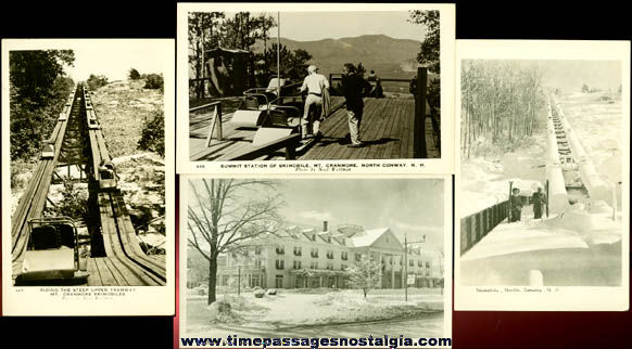 (4) Different Old Unused North Conway, New Hampshire Real Photo Post Cards