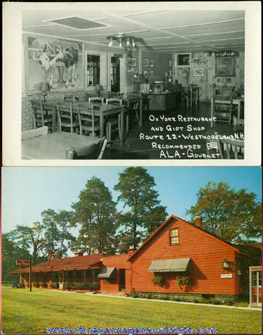 (2) Different Old Unused New Hampshire Restaurant Post Cards