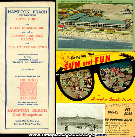 (14) Old Hampton Beach, New Hampshire Souvenir Items