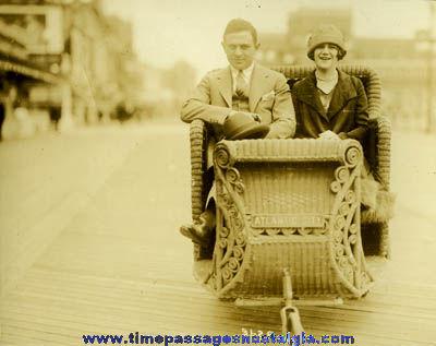 Old Atlantic City Boardwalk Souvenir Photograph