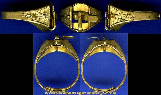 RARE 1940's Superman Premium Airplane Toy Ring