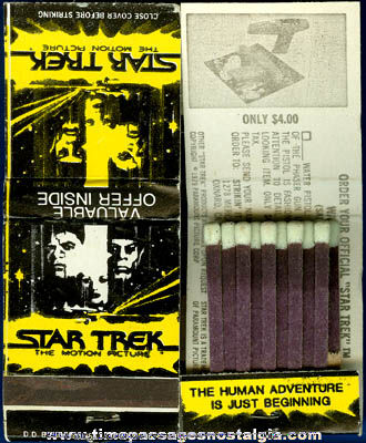 (2) Old Star Trek Movie Advertising Match Books