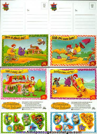 (30) Unused ©1996 McDonaldland Sticker Post Cards