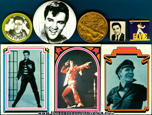 (11) Different Old Elvis Presley Items