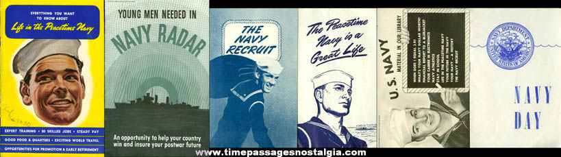 (6) Old United States Navy Paper Advertising Items