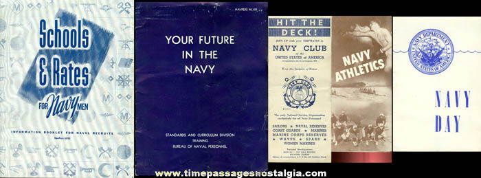 (5) Old United Staes Navy Paper Advertising Items