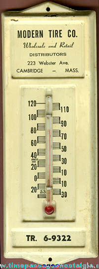 Old Painted Metal Advertising Thermometer