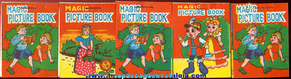 (5) Small Old Unused Magic Picture Books