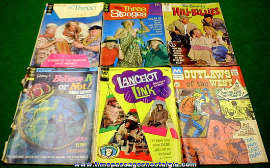 (6) Different Old Comic Books