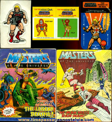 (7) 1980's HE-MAN Masters Of The Universe Items