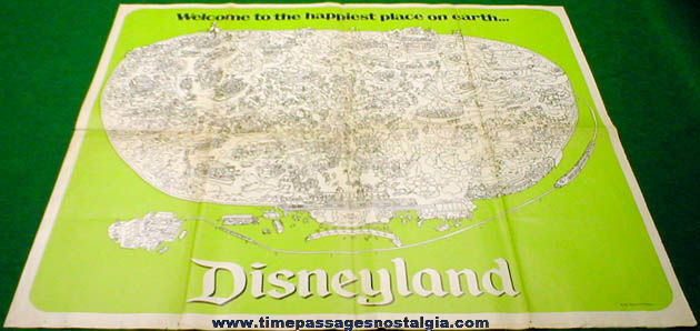 Old Disneyland Advertising Newspaper Supplement Map