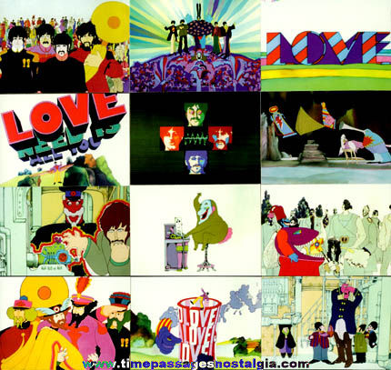(12) Beatles Yellow Submarine Collector Trading Cards