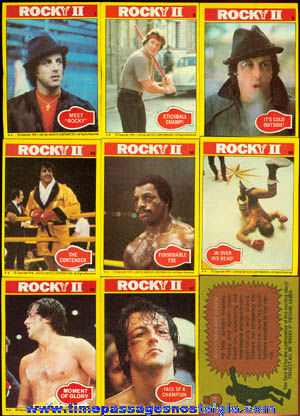 (179) �1979 ROCKY II Bubble Gum Trading Cards