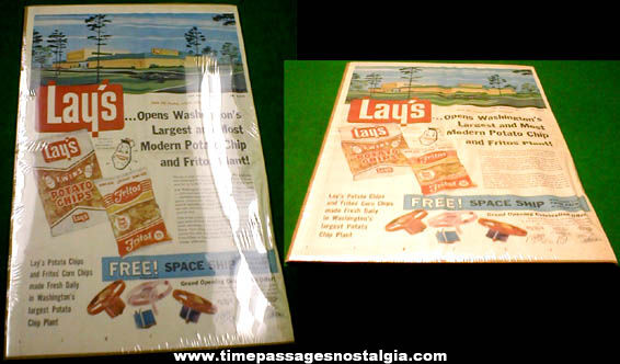 1961 Lays - Fritos Full Page Color Newspaper Advertisement