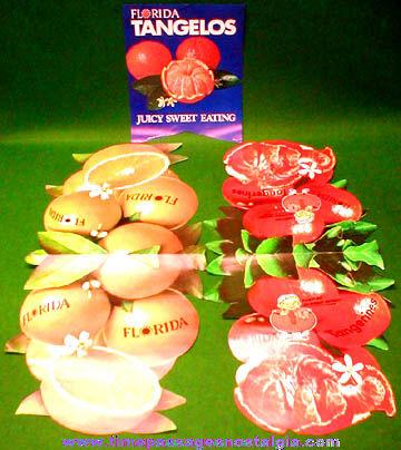 (3) Colorful 1970's Florida Orange Paper Advertising Items