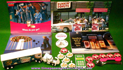 (23) Dunkin' Donuts Advertising Items