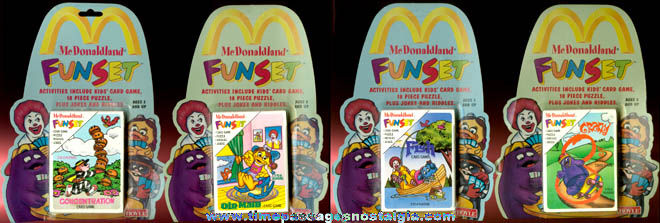 (4) Different Unopened ©1992 McDonaldland Fun Set Card Deck Games