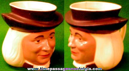 1950's Painted Plastic Quaker Oats Man Advertising Premium Mug