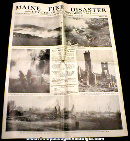 Special 1947 Maine Fire Disaster Pictorial Review