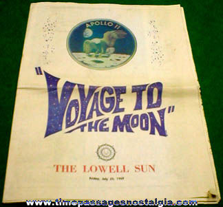 July 25, 1969 ''Voyage To The Moon'' Lowell Sun Newspaper Supplement
