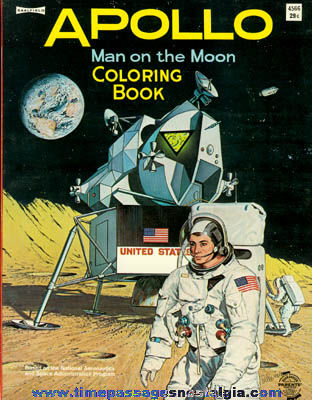 Uncolored 1969 Apollo / Man On The Moon Coloring Book