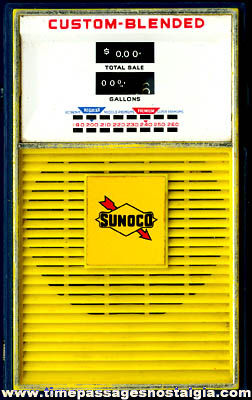 Old SUNOCO Advertising Gasoline Pump Transistor Radio
