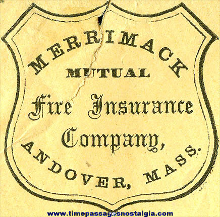 1862 Fire Insurance Company Envelope With Rare United States Postage Stamp