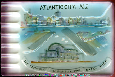 Colorful Old Atlantic City, New Jersey Souvenir Ashtray