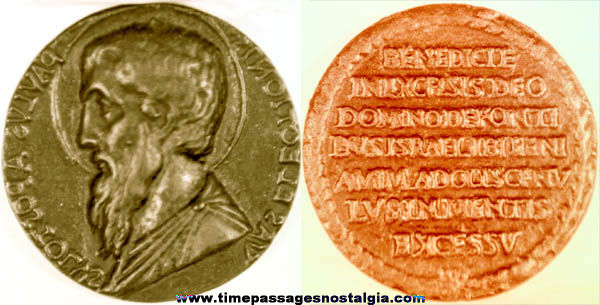(2) Large Old Religious Medal Photograph Negatives