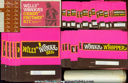 Early 1970's Quaker Cereal Premium Willy Wonka Candy Factory Kit