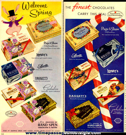 (2) 1950's Candy Advertisements