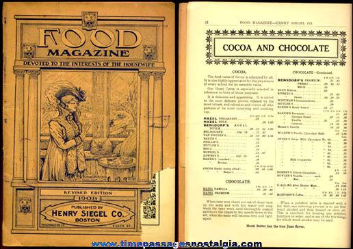 1908 Henry Siegel Company Food Magazine