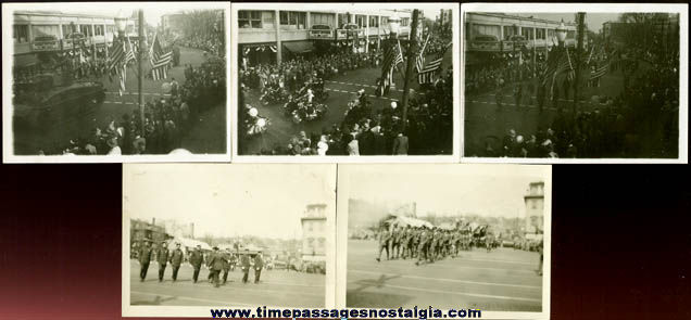 (5) World War II Welcome Home Parade Photographs