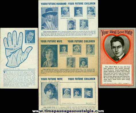(5) Old Arcade Exhibit Fortune Telling Trading Cards