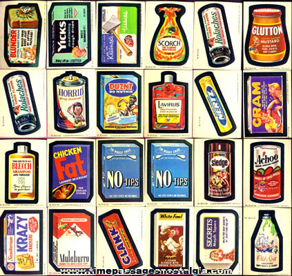 (44) Old Wacky Packages Stickers / Trading Cards