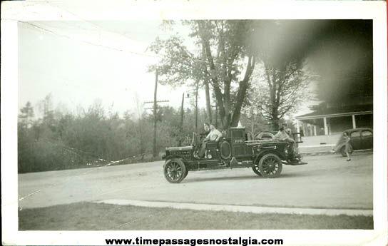 Old Fire Truck & Firemen Photograph