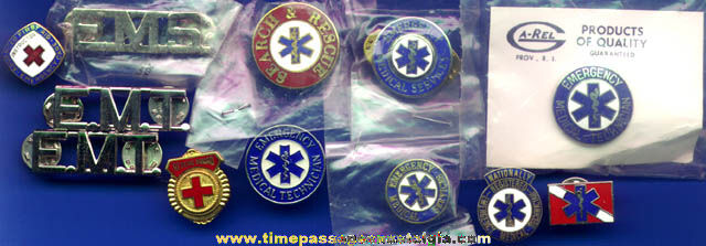(12) Emergency Response / Ambulance Metal & Enameled Pins