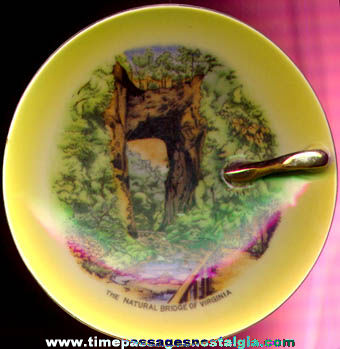 Old Natural Bridge Advertising Souvenir Porcelain Serving Dish / Plate