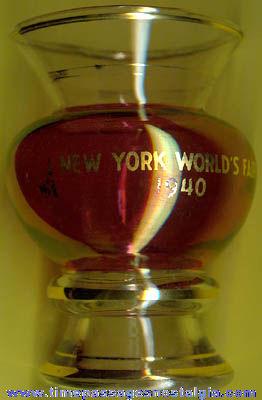 1940 New York World's Fair Advertising Souvenir Vase