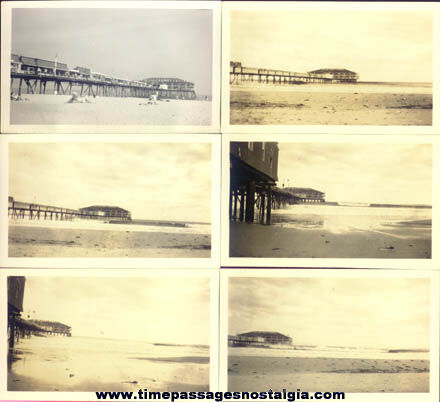 (10) 1930s Old Orchard Beach Pier, Maine Photographs & Negatives