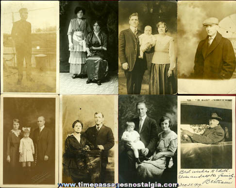 (8) Old Real Photo Post Cards